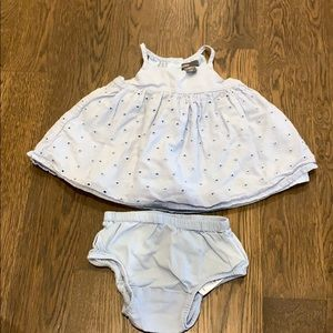 Gap baby blue eyelet dress 0-3 months